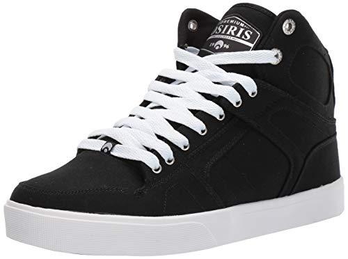 Osiris Men's NYC 83 VLC DCN Skate Shoe, Black/Silver, 5.5 M US