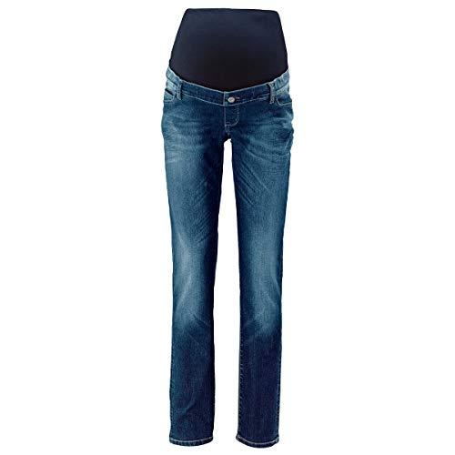 2HEARTS Umstands-Jeans We Love Basics/Umstandsmode Damen/Schwangerschaftshose/Blue Washed