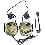 XSHION Noise Cancelling Headphones,Helmet-Type Tactical Headset Headphone Headset Noise Reduction Headset for Airsoft Radio