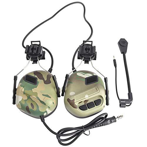 TONGJI Airsoft - Auriculares tácticos micrófono