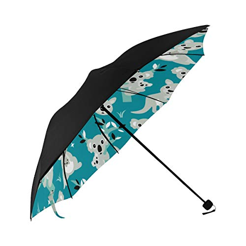 Umbrella Sun Kalamazoo Kangaroo Australia Underside Printing Compact Umbrella For Women Best Umbrella Umbrella Stroller Travel Bag With 95% Uv Protection For Women Men Lady Girl