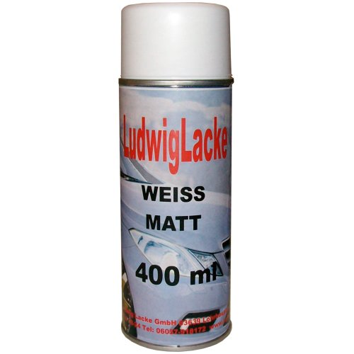 1 Lackspray Weiss matt 400 ml je Spraydose
