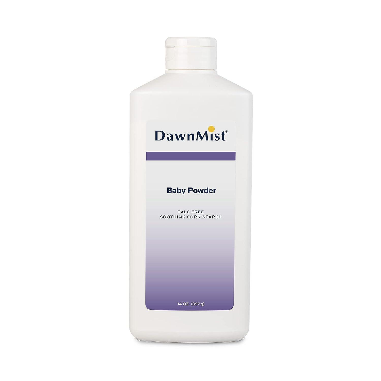 Dukal Dawn Mist Baby Powder, Cornstarch, 14 oz. (Pack of 12)
