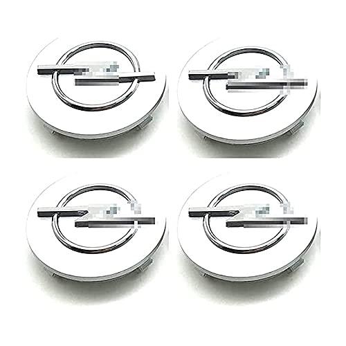 4 Piezas Tapas Centrales Tapacubos, para Opel Astra H G J Insignia Mokka Zafira Corsa 64MM Centro De Rueda con Logo ProteccióN Accesorios