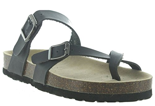 OUTWOODS Women's Bork 30 Black Syntheticsandals 7 B(M) US