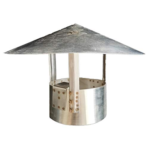 LTLWSH Chimney Cowl Cap Round Chimney Cowl Bird Guard Roof Cowl Rain Cover Protector Cap Ending Draught Fire Roof Cowl,100mm