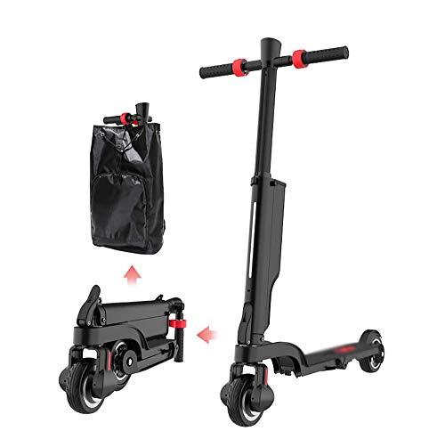 ZLM Scooter eléctrico Plegable, 20 km de Largo Alcance, hasta 15,5 mph, Patinete eléctrico Plegable portátil para Adultos, Patinete eléctrico Ligero para Adultos