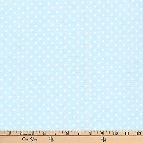 Purchase Robert Kaufman Kaufman Basics Double Gauze Dot, Baby Blue