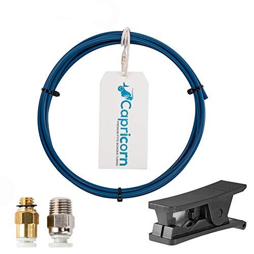 Genuine Capricorn PTFE Bowden Tubing XS Series 1M y cortador de tubos para impresora 3D Filamento de 1.75 mm con PC4-M6 y PC4-M10 Conexión neumática