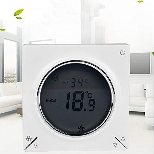 Controlador de aire acondicionado, controlador de temperatura ambiente para ahorro de energía, duradero para control de temperatura en dos sistemas de control de agua o viento, uso