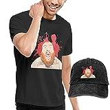 Baostic Camisetas y Tops Hombre Polos y Camisas, Mens Action Bronson T Shirt Washed Denim Baseball Dad Hats Black