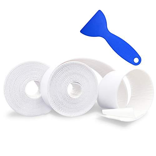 Nastro Sigillante Impermeabile, materiale PE, che copre l'angolo della cucina, il bordo della vasca, La giunzione del bagno e delle piastrelle del pavimento, Con accessori per flex seal