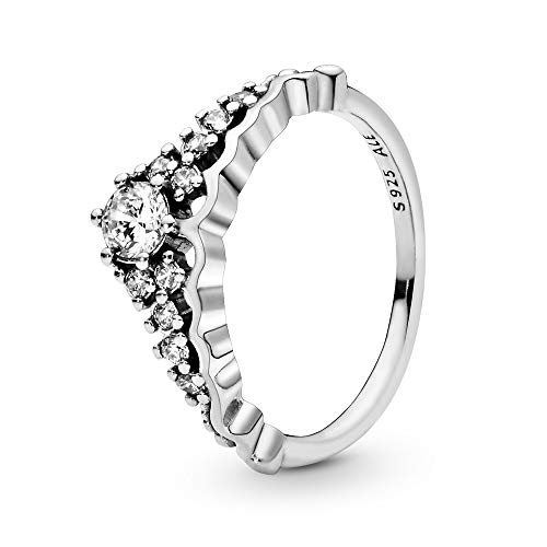 Pandora Jewelry Fairytale Tiara Cubic Zirconia Ring in Sterling Silver, Size 7