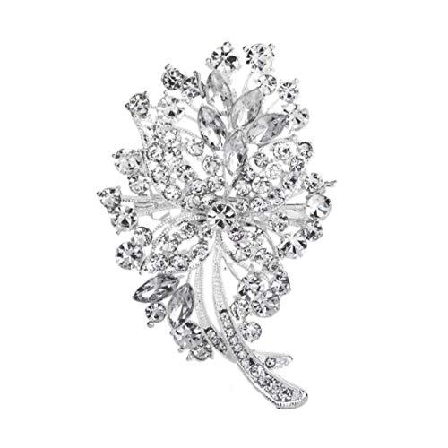 Runfun Broche Nupcial Broche Cristalina De La Boda Diamantes De Imitación para Pernos Ropa Mujeres Accesorios Blanco Decoraciones De Boda