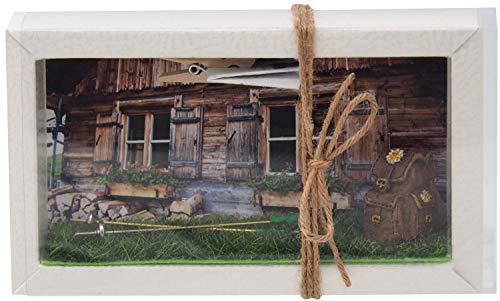 ZauberDeko Geldgeschenk Verpackung Wandern Rucksack Reise Urlaub Hütte Gutschein Berghütte