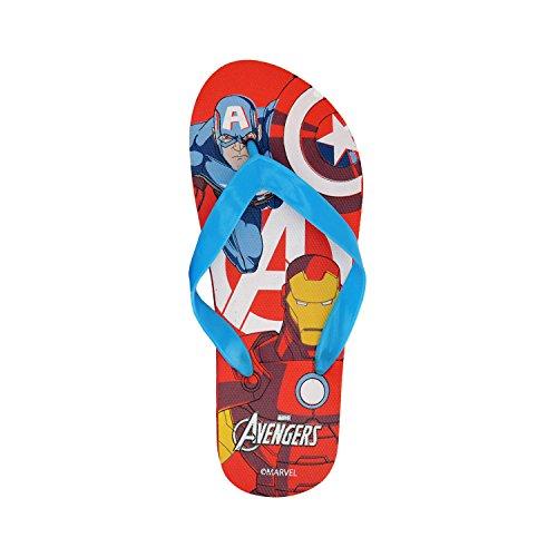 MW92268 - Tongs en plastique pour enfants - Avengers - Rouge, 33-34