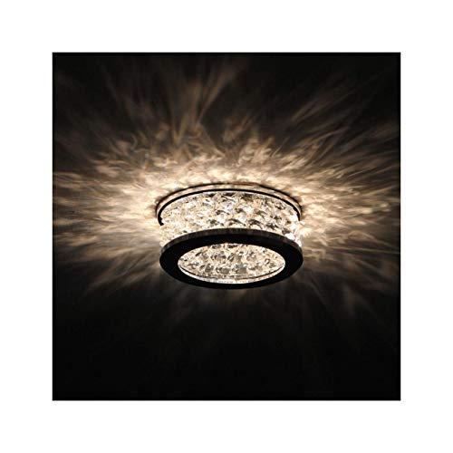 Kosilum – Einbaustrahler aus Kristall – Bech – Licht Warmweiß Beleuchtung Wohnzimmer Schlafzimmer Küche Flur – 1 x 50 W – GU10 – IP20