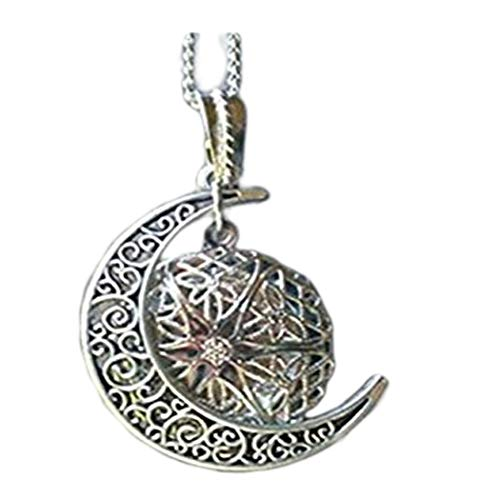 Ätherisches Öl Diffusor Halskette Silber MOON Aromatherapie Young Living