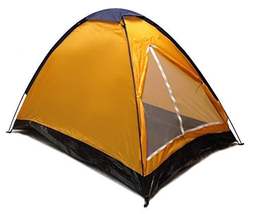 EDMBG Orange Dome Camping Tent 7x5' - 2 Person, Two Man Blue Orange Sealed Bottom NEW