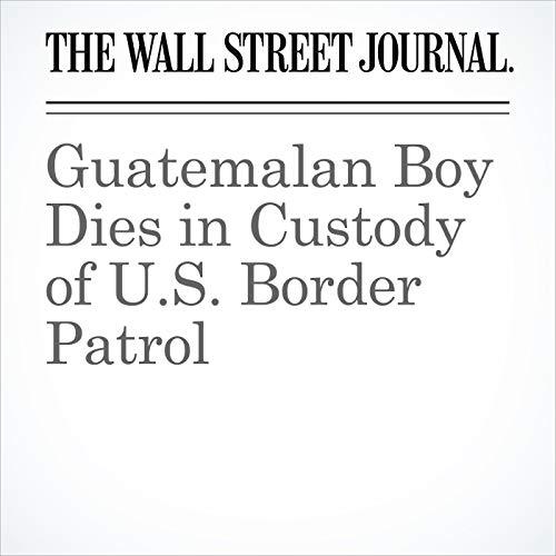 Guatemalan Boy Dies in Custody of U S  Border Patrol