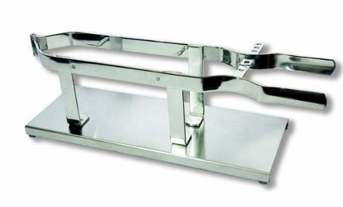 Flores Cortés Modell-Schinkenhalter. Klemme aus Edelstahl, 6mm Durchmesser. Halterung aus Edelstahl.