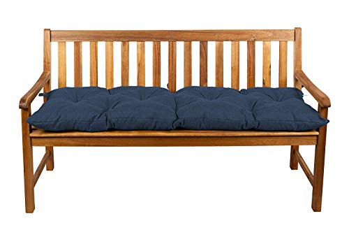 Coussins pour banc, coussins pour balançoire de jardin, siège (200x50, Bleu foncé 17)