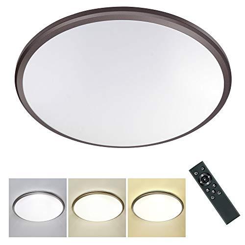 STASUN 24W Plafón Led con control remoto, Color claro y brillo ajustables, Lámpara LED de techo Regulable, IP54 resistente al agua, para Habitación Infantil Dormitorio Sala de Estar, Ø38cm