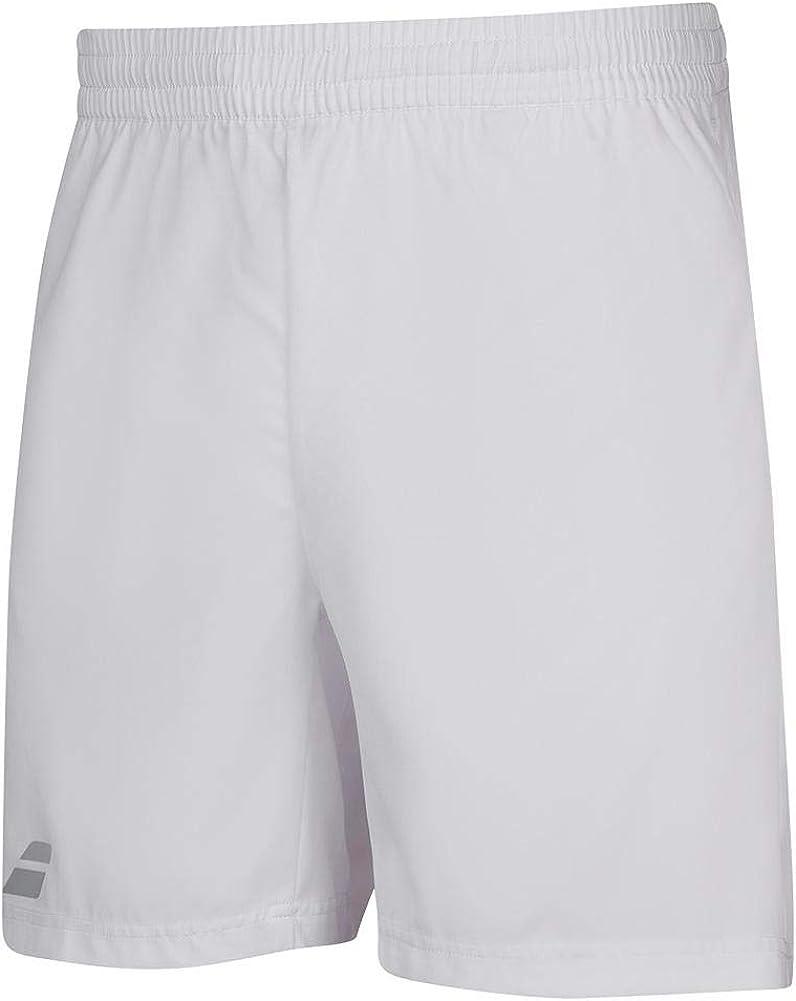 Babolat Boy's Play Tennis Shorts, White/White (US Youth Size 6-8)