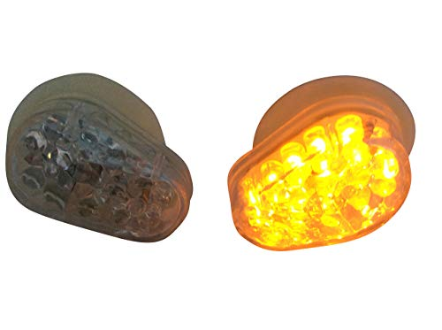 Par Carenado Flush Montado Marca E Indicadores LED para Moto Claro Lente
