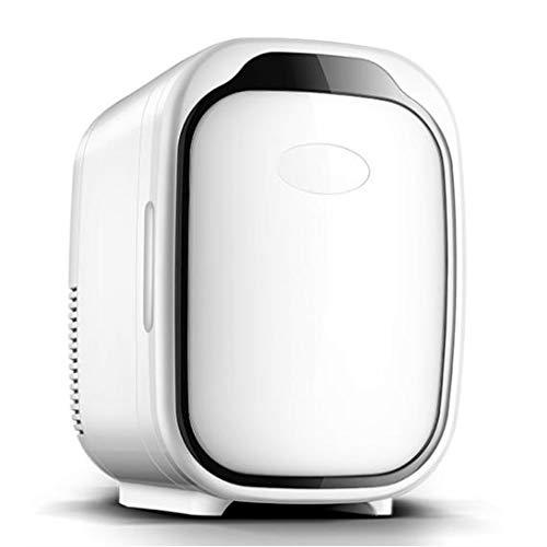 GJHBFUK Puerta Mini Nevera 6L Compacto Individual Heladera con Freezer Multiuso De Doble Propósito Más Fresco For El Dormitorio, Oficina, Coche, Dormitorio (Color : Black)