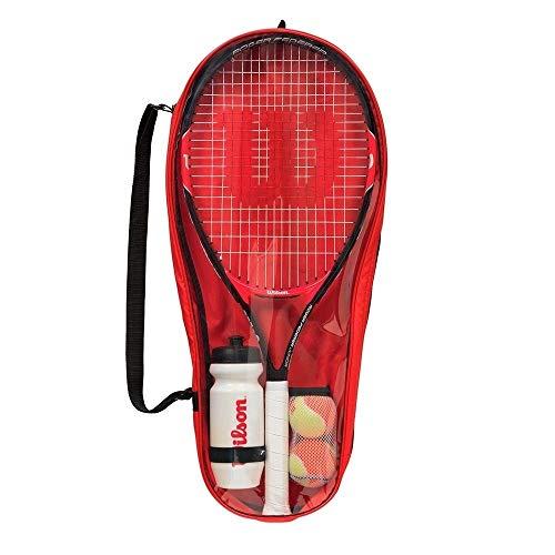 WHITE CAT Roger Federer WRT214000 - Set de iniciación para niños (Talla 25, 9-12 años), Color Rojo y Negro