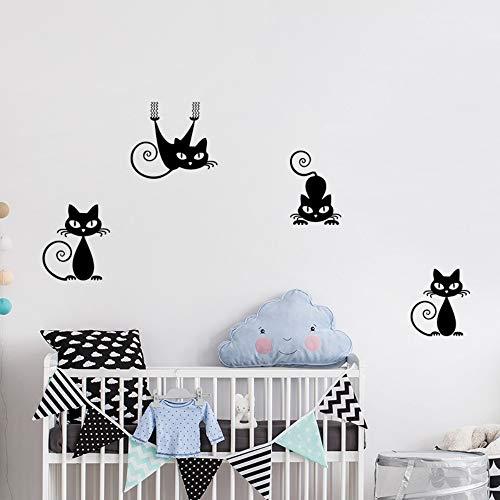 Stickers Muraux Kitty Mignon Chambre Chambre Salon Chambre Enfants Décoration Murale Autocollant 57 * 17.5Cm