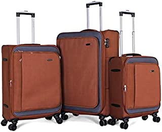 حقيبة جيوردانو - 7444 طقم حقائب سفر ناعم 3 قطع مع 4 عجلات