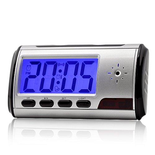 FLY-SHOP-Blu-Ray, digitale wekker met mini-videocamera, Spy DV, bewegingsdetectie + afstandsbediening