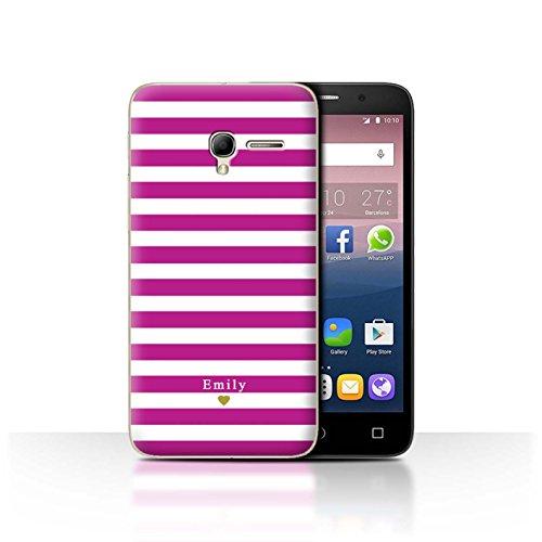 Stuff4Phone Case/Cover/Skin/alcpop35/Custom Stripes/Striped Collection Coeur/Fuchsia Rose
