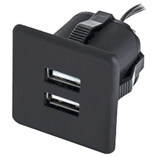 Furnika 10.05.13.8 USB-stopcontact, hangende oplader voor inbouw zonder voeding, zwart