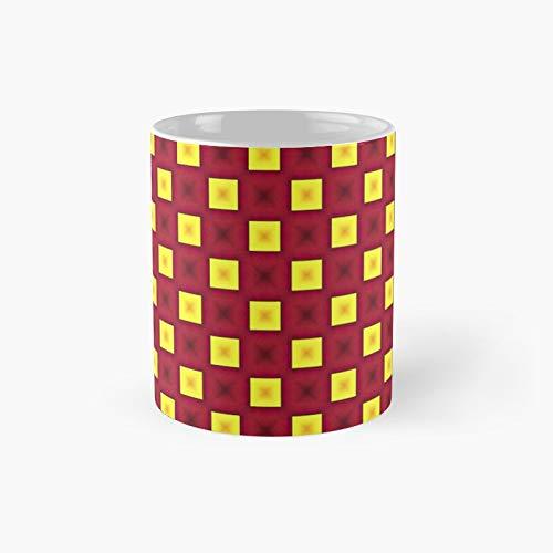 Taza clásica de Duel Squares | El mejor regalo divertidas tazas de café de 325 ml