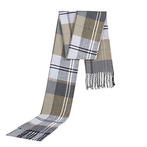 Urisgo sjaal, geruit, Schotse ruiten, voor mannen en vrouwen, klassieke wintersjaal, zacht en luxueus D