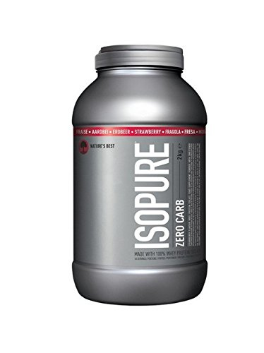 Isopure Zero Carb Whey Protein Isolate with BCAA's, Keto Friendly Low Lactose Protein Powder by Isopure, Strawberry, 66 Servings, 2 kg