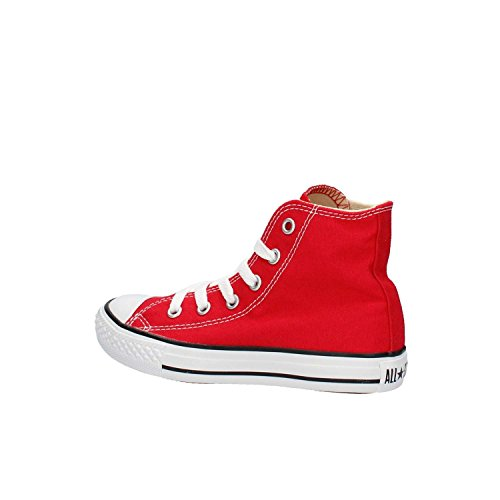 Converse Youths Chuck Taylor All Star Hi Zapatillas de tela, Unisex - Infantil, Rojo, 27