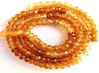 "Jewel Beads Natural Beautiful jewellery Shaded Hassonite Garnet Natural Gemstone Faceted Rondelle Beads 13"" Strand Code:- JBB-19596"
