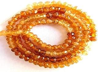 "Jewel Beads Natural Beautiful jewellery Shaded Hassonite Garnet Natural Gemstone Faceted Rondelle Beads 13"" Strand Code:- JBB-19596"