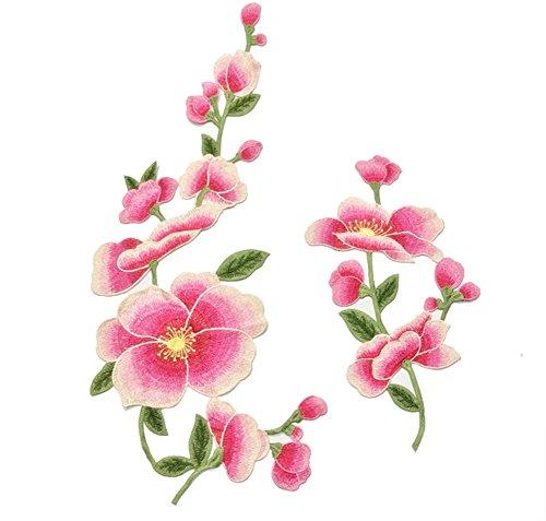 Gespout Patchs décoratifs Applique Broderie Tissu Décoration de vêtements Création Manuelle DIY Différentes Couleurs (Rose)