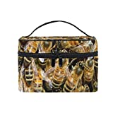 Portable Makeup cosmetic bag square with Zipper Animal Group Insect Bee single layer Clutch Travel...
