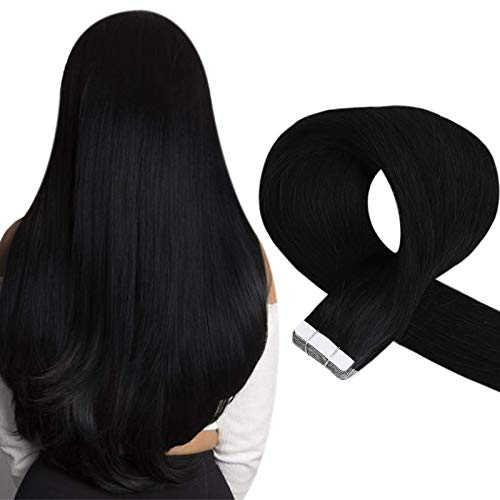 Sunny Tape in Human Hair Extensions in Natural Black