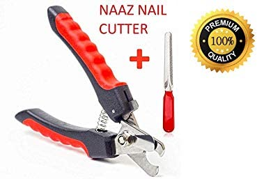 Naaz Pet Supplies Heavy Durability Professional Animal Nail Cutter Clipper Grinder Trimmer Filer for Small Medium and Large Dogs Puppies Cats and Kittens Claw Grooming Tool Set (Red and Black) product image
