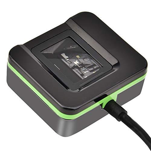 Demeras Lector de Huellas Dactilares USB biométrico Lector de Huellas Dactilares Escáner Control de Acceso Sistema de Asistencia para Oficina en casa