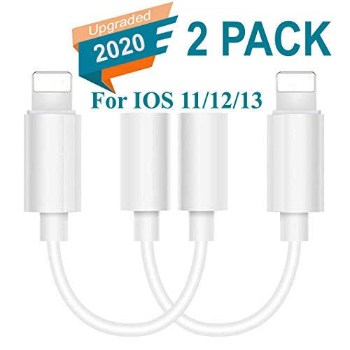 Lighting to 3.5 mm Headphone Adapter Earphone Earbuds Adapter Jack 2 Pack,Smooth Connection,Compatible with Apple iPhone 11 Pro Max X//XS//Max//XR 7//8//8 Plus Plug and Play Viewfinders