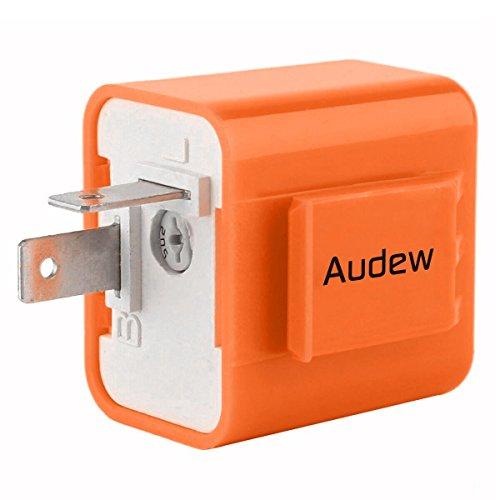 AUDEW 2-Pin Electronic Turn Signal Flasher Relay Fix Motorcycle Turn Signal Hyper Flash