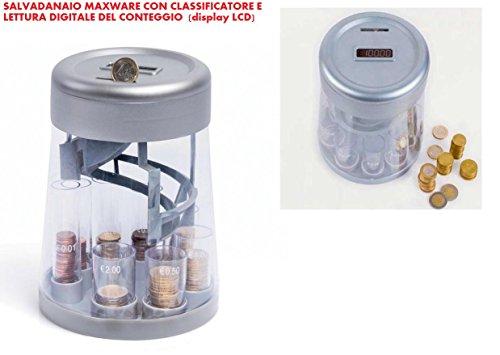 SALVADANAIO DIGITALE CLASSIFICATORE E CONTAMONETE ELETTRONICO CON DISPLAY LCD (nuovo modello)
